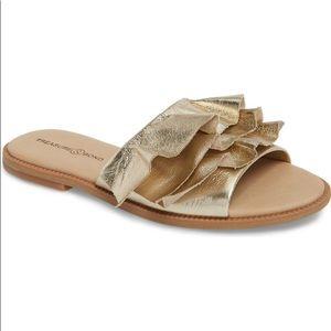 Treasure & Bond Ruby Ruffled Slide Sandals
